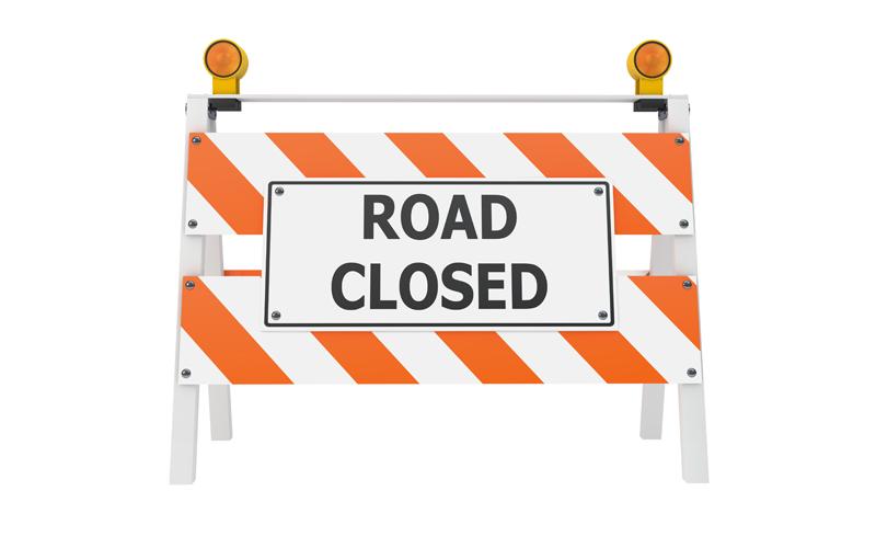 Oak Street Closure Monday