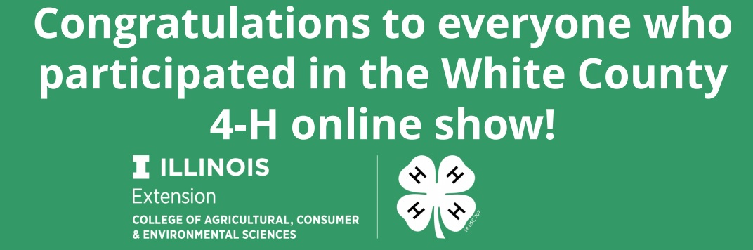 White County 4-H Fair Virtual Show Results Announced