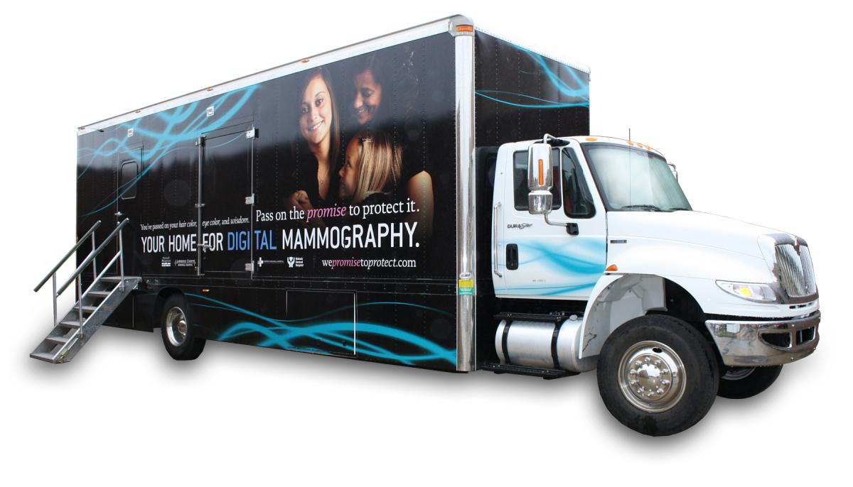 3D Mammography Mobile Event in Fairfield on March 20th