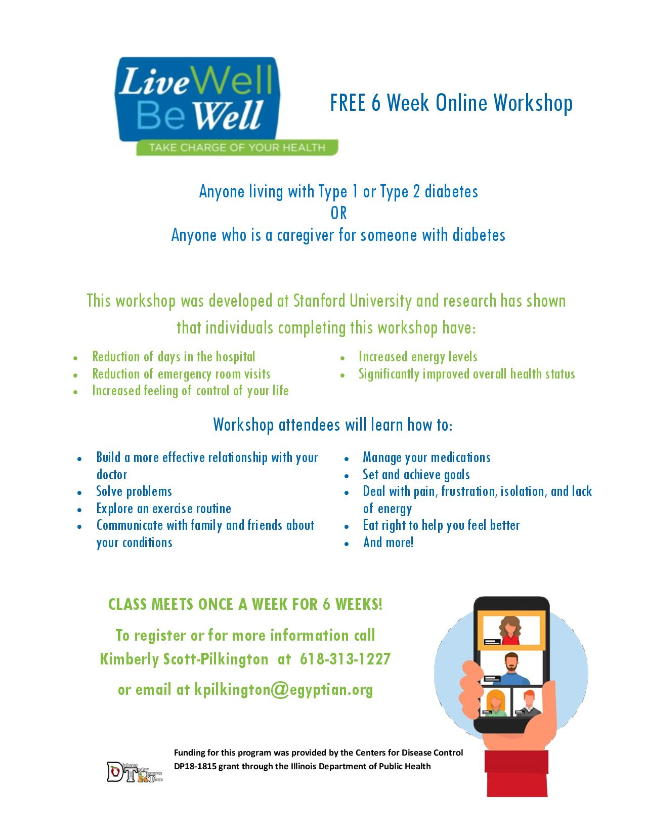 Egyptian Health Offering Free 6 Week Online Workshops; Live Well Be Well