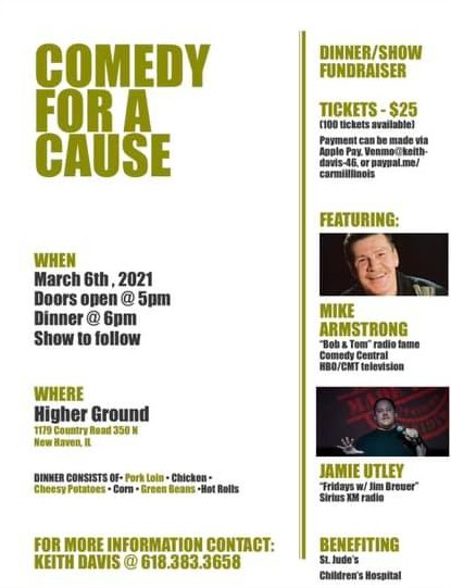 Comedy for a Cause St. Jude's Fundraiser March 6th