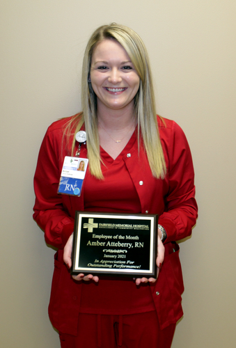 FMH PRESENTS  JANUARY EMPLOYEE OF THE MONTH
