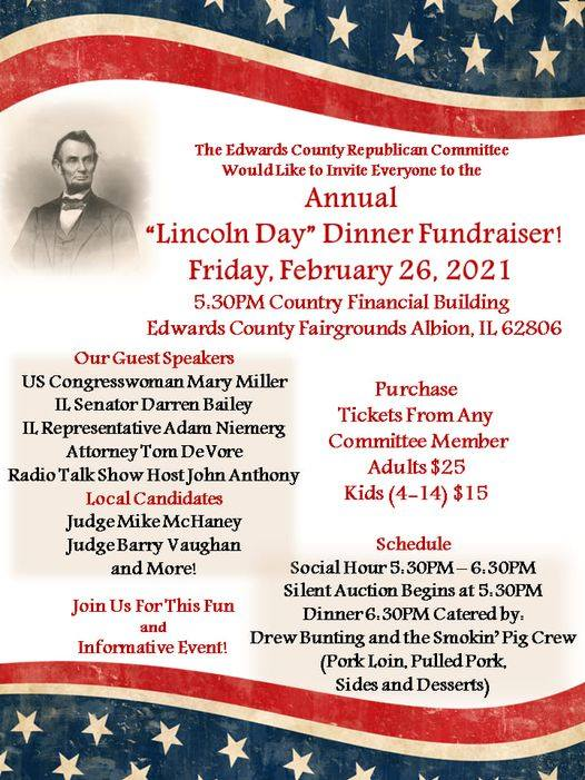 Edwards County Republicans Lincoln Day Dinner This Friday