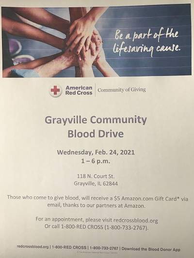 Grayville Lions Club to Host Red Cross Blood Drive Wednesday