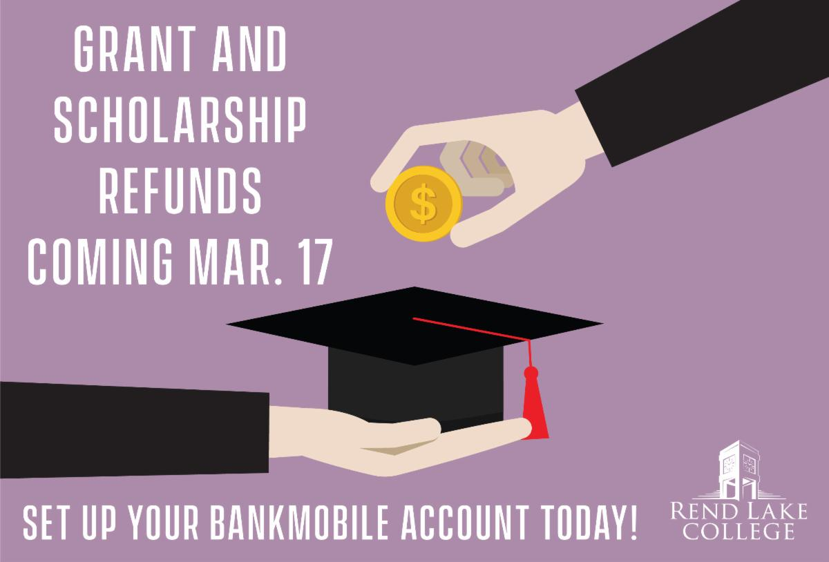 GRANT AND SCHOLARSHIP DISBURSEMENT IS MARCH 17
