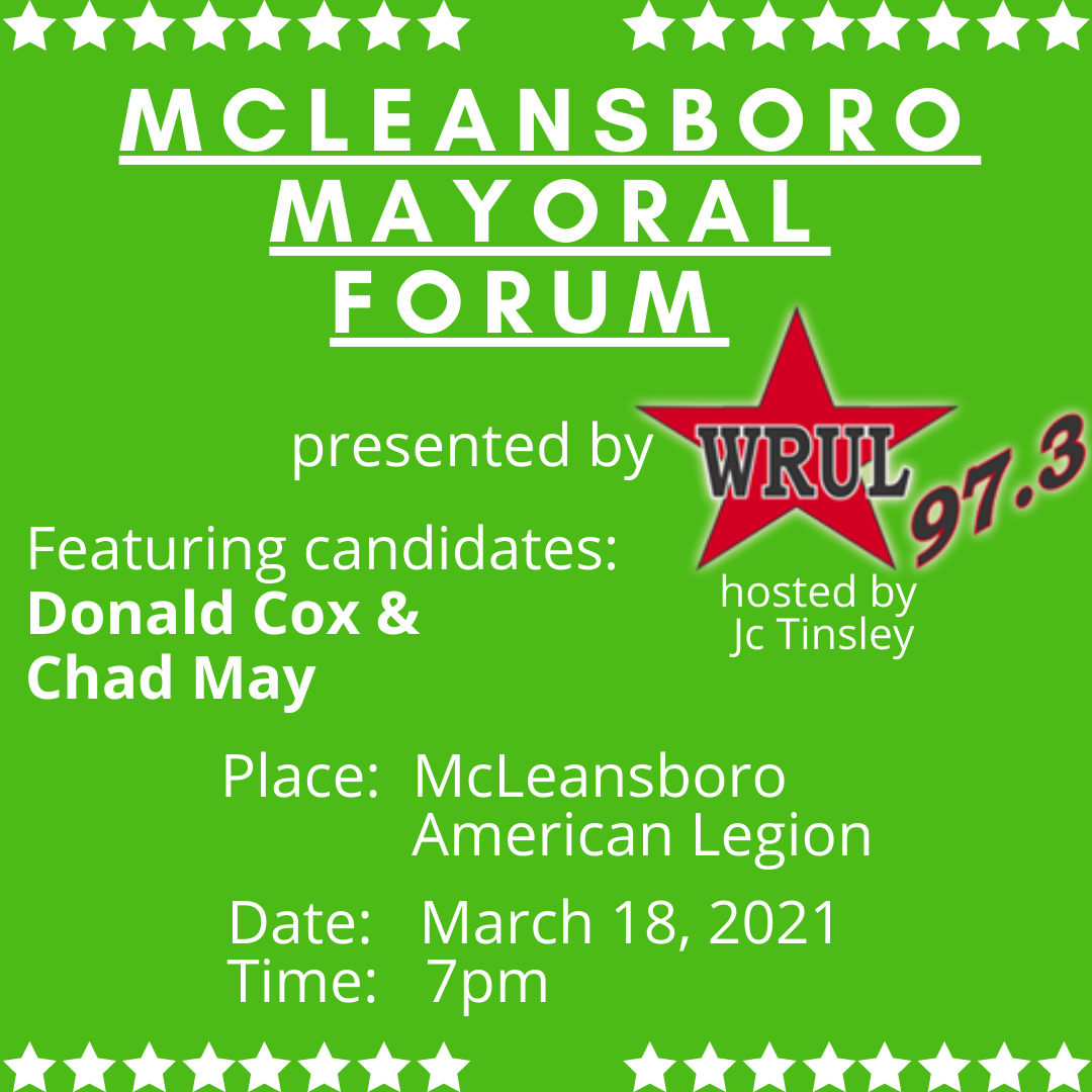 ON DEMAND Audio – McLeansboro Mayoral Forum and Questionnaire