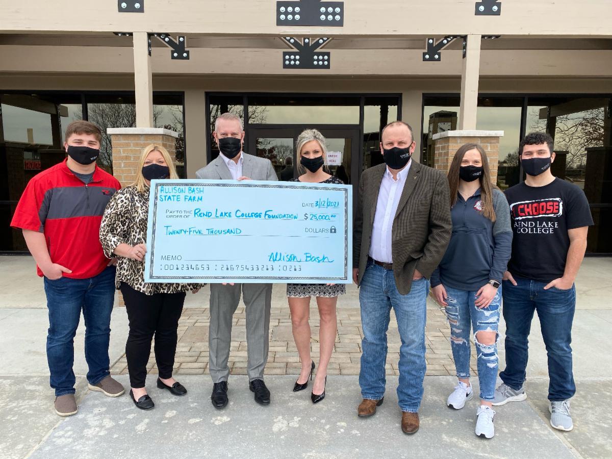 Allison Bash State Farm Presents $25,000 Gift to RLC Foundation