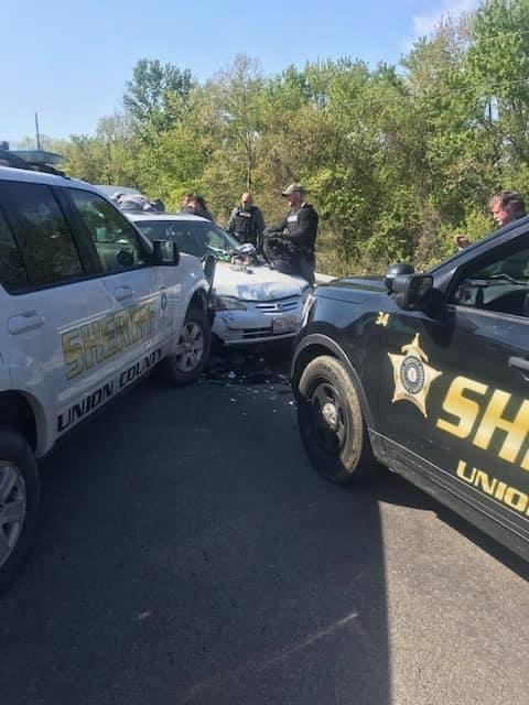 Union County Kentucky and Gallatin County Law Enforcement Cooperate to End Pursuit