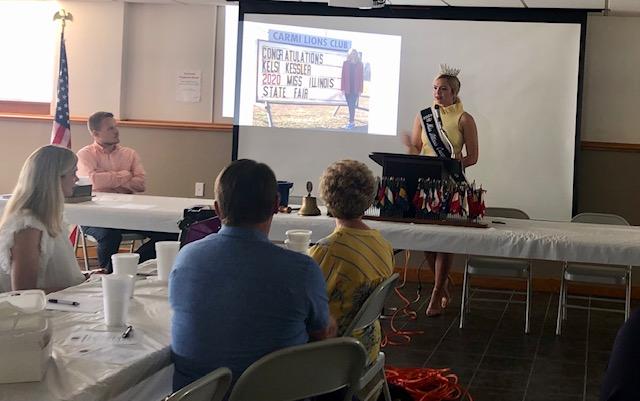 Carmi Kiwanis Club Unveils Corn Day 2021 Theme; Gets Visit from Illinois State Fair Queen Kelsi Kessler