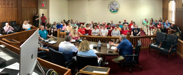 County Board Special Meeting Spirals Once Again into Heated Exchanges