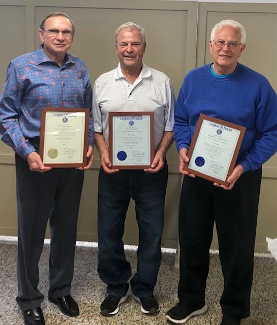 Kiwanis Honors Three Men for 30, 35, and 50 years of Membership
