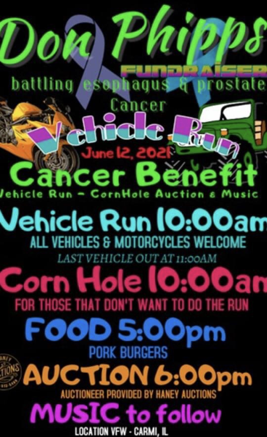 Don Phipps Poker Run and Fundraiser Coming June 12th