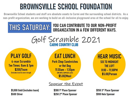 Brownsville School Foundation Invites You to the Country Club Saturday
