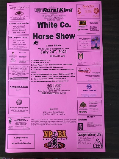 Saturday Horse Show at Fairgrounds