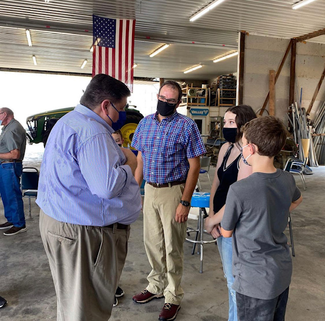 Governor Pritzker Keeps Low Profile While Visiting White County